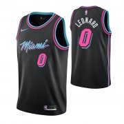 Wholesale Cheap Nike Heat #0 Meyers Leonard Men's Black City Edition NBA Jersey