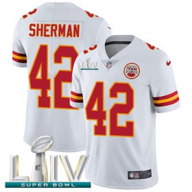 Wholesale Cheap Nike Chiefs #42 Anthony Sherman White Super Bowl LIV 2020 Youth Stitched NFL Vapor Untouchable Limited Jersey