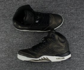 Wholesale Cheap Air Jordan 5 Premium Heiress Metallic Field Black/Light Bone-Metallic Field