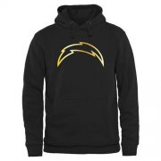 Wholesale Cheap Men's Los Angeles Chargers Pro Line Black Gold Collection Pullover Hoodie