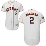 Wholesale Cheap Astros #2 Alex Bregman White Flexbase Authentic Collection 2019 World Series Bound Stitched MLB Jersey