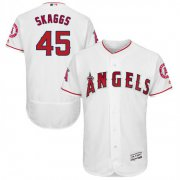 Wholesale Cheap Angels of Anaheim #45 Tyler Skaggs White Flexbase Authentic Collection Stitched MLB Jersey