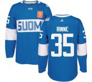 Wholesale Cheap Team Finland #35 Pekka Rinne Blue 2016 World Cup Stitched NHL Jersey