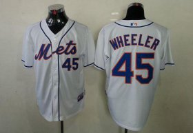 Wholesale Cheap Mets #45 Zack Wheeler White Cool Base Stitched MLB Jersey