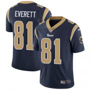Wholesale Cheap Nike Rams #81 Gerald Everett Navy Blue Team Color Men's Stitched NFL Vapor Untouchable Limited Jersey