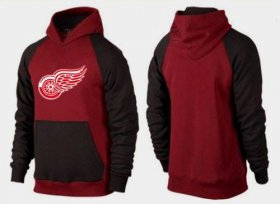 Wholesale Cheap Detroit Red Wings Pullover Hoodie Burgundy Red & Black