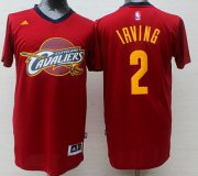 Wholesale Cheap Men's Cleveland Cavaliers #2 Kyrie Irving Revolution 30 Swingman 2014 New Red Fashion Short-Sleeved Jersey