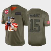 Cheap Kansas City Chiefs #15 Patrick Mahomes Nike Team Hero Vapor Limited NFL Jersey Camo