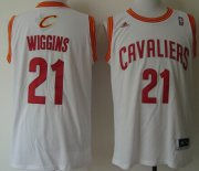 Wholesale Cheap Cleveland Cavaliers #21 Andrew Wiggins Revolution 30 Swingman White Jersey