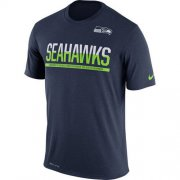 Wholesale Cheap Men's Seattle Seahawks Nike Practice Legend Performance T-Shirt Navy