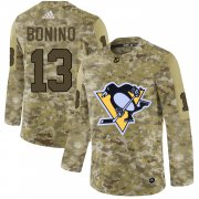 Wholesale Cheap Adidas Penguins #13 Nick Bonino Camo Authentic Stitched NHL Jersey