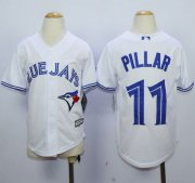 Wholesale Cheap Blue Jays #11 Kevin Pillar White Cool Base Stitched Youth MLB Jersey