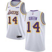 Wholesale Cheap Nike Lakers #14 Danny Green White NBA Swingman Association Edition Jersey