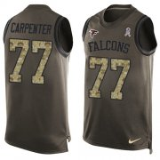 Wholesale Cheap Nike Falcons #77 James Carpenter Green Men's Stitched NFL Limited Salute To Service Tank Top Jersey