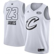 Wholesale Cheap Nike Cavaliers #23 LeBron James White NBA Jordan Swingman 2018 All-Star Game Jersey
