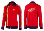 Wholesale Cheap NHL Detroit Red Wings Zip Jackets Orange-2