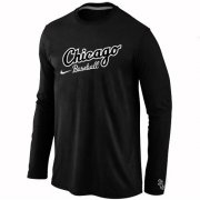 Wholesale Cheap Chicago White Sox Long Sleeve MLB T-Shirt Black