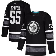 Wholesale Cheap Adidas Jets #55 Mark Scheifele Black Authentic 2019 All-Star Stitched Youth NHL Jersey