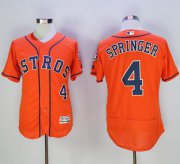 Wholesale Astros #4 George Springer Orange Flexbase Authentic Collection Stitched Baseball Jersey