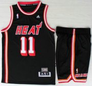 Wholesale Cheap Miami Heat #11 Chris Andersen Black Hardwood Classics Revolution 30 NBA Jerseys Short Suit