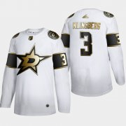 Wholesale Cheap Dallas Stars #3 John Klingberg Men's Adidas White Golden Edition Limited Stitched NHL Jersey