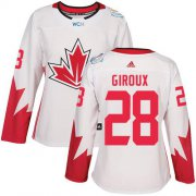 Wholesale Cheap Team Canada #28 Claude Giroux White 2016 World Cup Women's Stitched NHL Jersey