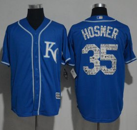Wholesale Cheap Royals #35 Eric Hosmer Royal Blue 2017 Spring Training Authentic Flex Base Stitched MLB Jersey