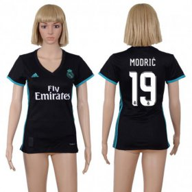 Wholesale Cheap Women\'s Real Madrid #19 Modric Away Soccer Club Jersey