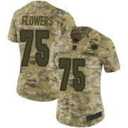 Wholesale Cheap Nike Dolphins #75 Ereck Flowers Camo Women's Stitched NFL Limited 2018 Salute To Service Jersey