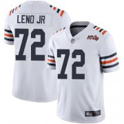 Wholesale Cheap Nike Bears #72 Charles Leno Jr White Alternate Men's Stitched NFL Vapor Untouchable Limited 100th Season Jersey