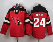 Wholesale Cheap Nike Cardinals #24 Adrian Wilson Red Player Pullover NFL Hoodie