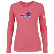Wholesale Cheap Women's Nike Buffalo Bills Of The City Long Sleeve Tri-Blend NFL T-Shirt Pink
