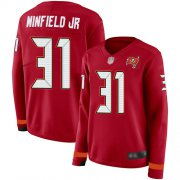 Wholesale Cheap Nike Buccaneers #31 Antoine Winfield Jr. Red Team Color Women's Stitched NFL Limited Therma Long Sleeve Jersey