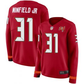 Wholesale Cheap Nike Buccaneers #31 Antoine Winfield Jr. Red Team Color Women\'s Stitched NFL Limited Therma Long Sleeve Jersey