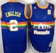 Wholesale Cheap Denver Nuggets #2 Alex English Blue Rainbow Swingman Throwback Jersey