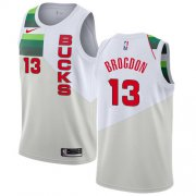 Wholesale Cheap Nike Bucks #13 Malcolm Brogdon White NBA Swingman Earned Edition Jersey