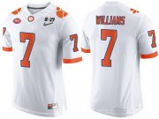 Wholesale Cheap Men's Clemson Tigers #7 Mike Williams White 2017 Championship Game Patch Stitched CFP Nike Limited Jersey