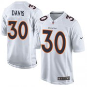 Wholesale Cheap Nike Broncos #30 Terrell Davis White Men's Stitched NFL Game Event Jersey