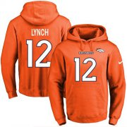 Wholesale Cheap Nike Broncos #12 Paxton Lynch Orange Name & Number Pullover NFL Hoodie