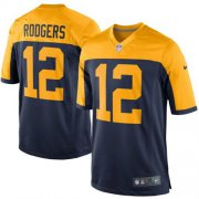 Wholesale Cheap Nike Packers #12 Aaron Rodgers Navy Blue Alternate Youth Stitched NFL New Elite Jersey