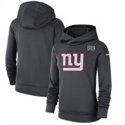 Wholesale Cheap NFL Women's New York Giants Nike Anthracite Crucial Catch Performance Pullover Hoodie