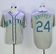 Wholesale Cheap Mariners #24 Ken Griffey Grey New Cool Base 2016 Hall Of Fame Patch Stitched MLB Jersey