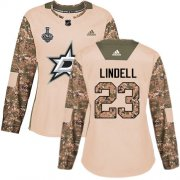 Cheap Adidas Stars #23 Esa Lindell Camo Authentic 2017 Veterans Day Women's 2020 Stanley Cup Final Stitched NHL Jersey