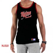 Wholesale Cheap Men's Nike Minnesota Twins Home Practice Tank Top Black