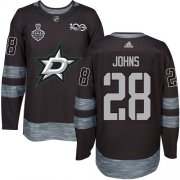 Wholesale Cheap Adidas Stars #28 Stephen Johns Black 1917-2017 100th Anniversary 2020 Stanley Cup Final Stitched NHL Jersey