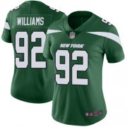 Wholesale Cheap Nike Jets #92 Leonard Williams Green Team Color Women's Stitched NFL Vapor Untouchable Limited Jersey