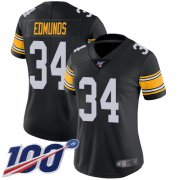 Wholesale Cheap Nike Steelers #34 Terrell Edmunds Black Alternate Women's Stitched NFL 100th Season Vapor Limited Jersey