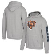Wholesale Cheap Chicago Bears Mitchell & Ness Classic Team Pullover Hoodie Heathered Gray