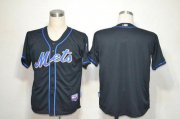 Wholesale Cheap Mets Blank Black Alternate Cool Base Stitched MLB Jersey