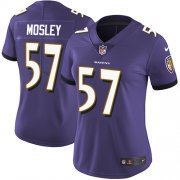 Wholesale Cheap Nike Ravens #57 C.J. Mosley Purple Team Color Women's Stitched NFL Vapor Untouchable Limited Jersey